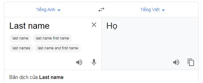 Last name la gi