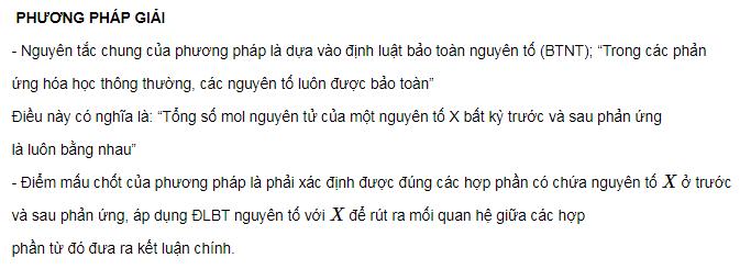 phuong phap va cach giai bai tap hoa theo dinh luat bao toan nguyen to